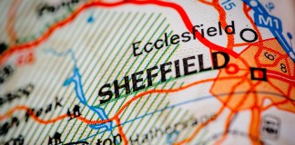 Map of Sheffield