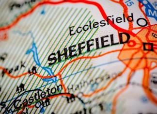 Map of Sheffield