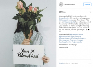 Good startup social media marketing - Bloom & Wild Instagram