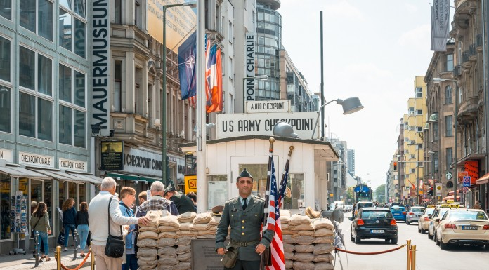 BERLIN, GERMANY-Checkpoint Charlie