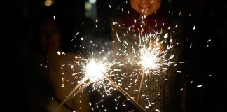 New Year sparklers