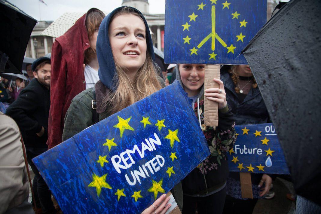 Brexit protest, EU