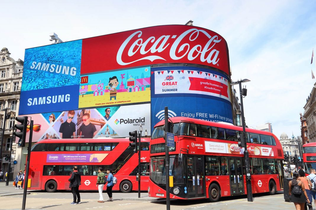 Piccadilly Circus Advert Board