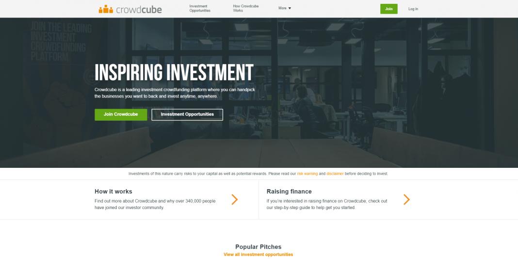 crowdcube website