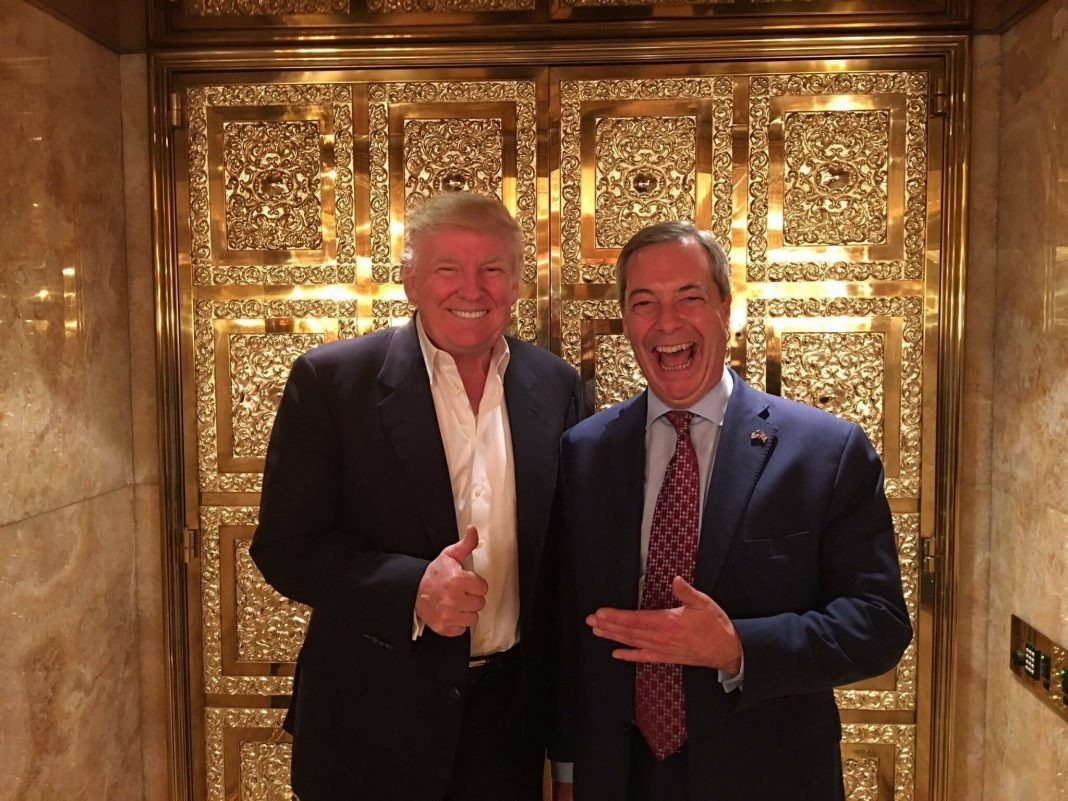 Nigel Farage and Trump at Trump Towers