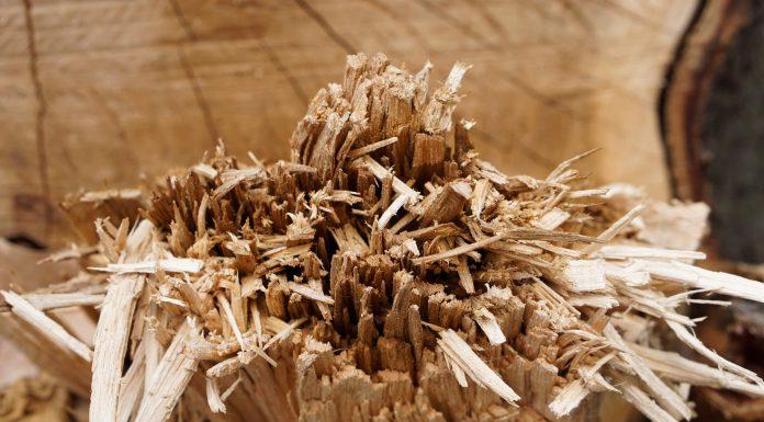 splintered wood