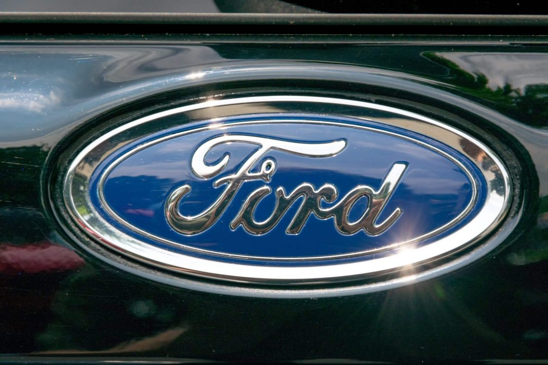 Ford logo on car