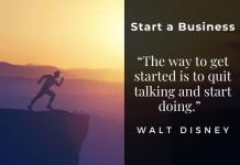 Start a Business, Walt Disney Quote